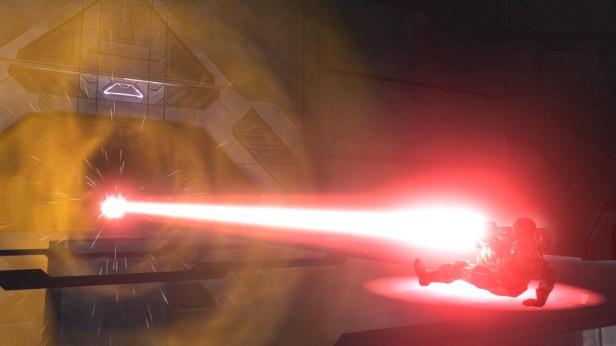 Spartan Laser Firing a Spartan Laser Beam Splashes