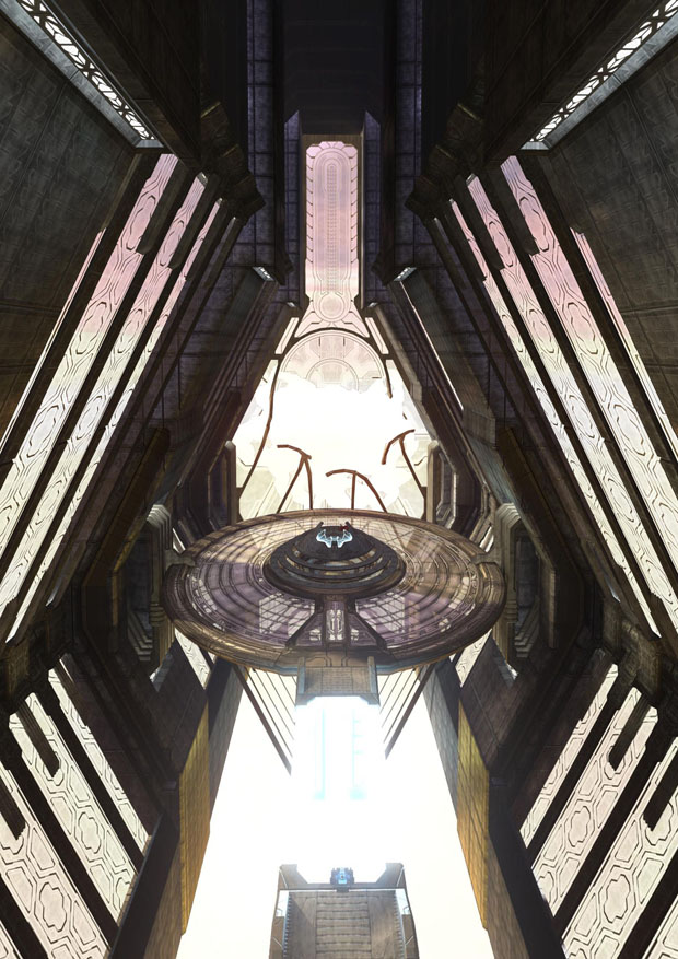 The Halo Array can be activated from the Ark's citadel control room...